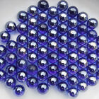 16mm Blue Glass Beads Marbles Kid Adult Toy Fish Tank Decorate 20 100pc