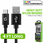 Braided Type-C USB Data Sync Charger Cable for Galaxy Note10 S10+ 5G iPad Pro 11