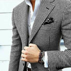 Men Suits Slim Fit Wedding Houndstooth Business Blazer Checkered Prom Tuxedos