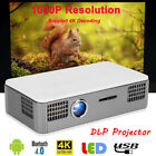 Mini Portable 4K Smart DLP Projector Android7.1 WIFI Bluetooth 1080P Home Cinema