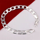 Men's / Women' 925 sterling silver bracelets curb chain link + *Free gift bag*