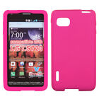 Solid Silicone Skin Cover Case for LG Optimus F3 VM720 / LS720