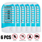 LOSKII 1-6X  LED Socket Electric Mosquito Killer Lights  Fly Bug Insect Trap Zap