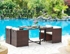 Cube Rattan Dining Set Black Grey or Brown Outdoor Garden Furniture Set 5pc