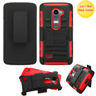 For LG Leon Impact Advanced Armor Protector Cover Case w/Holster