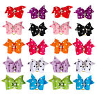 20/50/100 Cute Dots Print Cat Puppy Dog Hair Bows Grooming Dog Hair Decoration