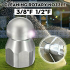 5 Jet 3/8''F 1/2''F Pressure Washer Drain Sewer Clean Pipe Jetter Rotary Nozzle