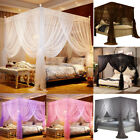 4 Corners Princess Bed Canopy Mosquito Netting Bedding Insect Net Lace All Sizes image