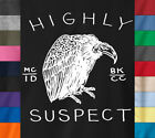 HIGHLY SUSPECT T-Shirt Alternative Rock Band Logo Concert - Ringspun Cotton Tee image