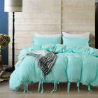 Modern Cover With Pillow Case Quilt Cover Bedding Set All Size NEW Pure color