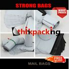 100 x  Premium Strong WHITE Virgin Plastic Mailing Postal Poly Bags12x16 Size