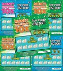 6 x Fake Joke Lottery Scratch Cards Scratchcards Tickets EURO IRELAND IRISH  <br/> € CURRENCY -Appear to win €50,000-Put in GREETING CARDS