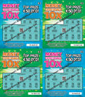 Fake Joke Lottery Scratch Cards Scratchcards Tickets EURO IRELAND IRISH Prank <br/> € CURRENCY -Appear to win €50,000-Put in GREETING CARDS