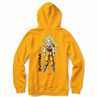 Primitive Skate x Dragon Ball Z Men's Goku Glow III Long Sleeve Hoodie Yellow $39.99 USD on eBay