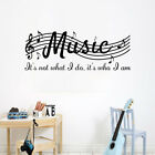 Music Sheet Music Carved Diy Wall Stickers Removable Home Living Room Art Decor