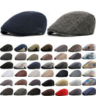 Men Plaid Newsboy Gatsby Cap Golf Driving Cabbie Ivy Hat Duckbill Beret Flat Hat