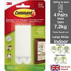 3M Command™ Picture Frame Hanging Adhesive Stick on Strips Damage Free <br/> ✔Best Value UK Stock ✔ 100% Genuine ✔Small Medium Large