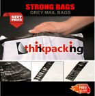 10x Grey Mailing Bags 6.5x9 Strong Post Mail Postage Poly Postal Self Seal UK