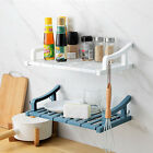 Suction Wall Mount Storage Rack Holder Shelves Bathroom Organizer Shower Shelf