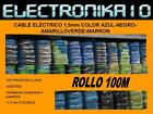 Cable electrico 1,5-2,5-4-6mm AZUL-NEGRO-MARRON-VERDEAMARILLO flexible NORMAL