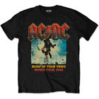 AC/ DC Blow Up Your Video World Tour Angus Young Official Tee T-Shirt Mens