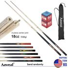 Set of Pool Cues ,58'' Two Piece Billiard House Cue Stick With Tips Chalks