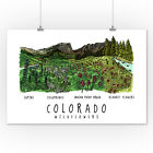 Colorado - Rockies Wildflowers (Art Posters, Wood & Metal Signs, Canvas, Totes) on Ebay