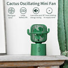 Portable Cactus Shape 3 Modes Rechargeable USB Cooling Desk Fan High Power Mini