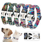 Quick Fit Buckle Nylon Dog Collar Personalised Puppy Pet Dog ID Name Tags Collar