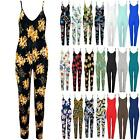Women Jumpsuit Ladies Sleeveless Floral Printed Strappy Slim All in One Playsuit