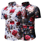 Goodstoworld 2019 Trend Men's Button Down Hawaiian Shirt Party Short Sleeve