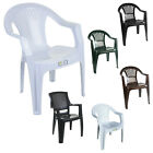Plastic Chairs Outdoor Garden Furniture Stacking Patio Lawn Seating Party Bbq