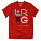 LRG Men's Research Icon Short Sleeve T Shirt Red Clothing Apparel Tees T-Shirts