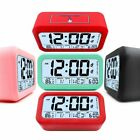 Kids Student Digital Alarm Clock LCD Display Snooze Electronic LED Light Sensor