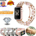 For Apple Watch Series 4 5 40/44mm Women Girls Jewelry Band Beads Strap Bracelet image