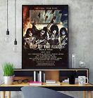 KISS Signed 2019 Tour Poster Professional Grade Gloss Print Limited Edition HD
