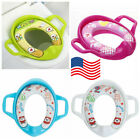 New Safety Potty Training Toilet Seat Baby Soft Padded With Handles For Toddler