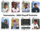 2003 Playoff Portraits Baseball Set ** Pick Team ** See Checklist in Description on Ebay