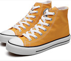 NEW Womens Unisex High Top lace up Canvas Sneakers Lace up sports Shoes