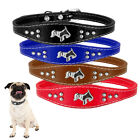 3 Pcs Pet Dog Collar Leather Red Neck Strap With Metal Buckle For Medium Dogs