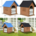 Waterproof Plastic Dog Kennel Outdoor Pet House For Small To Large Size Dog New for sale  USA