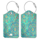 [2 Pcs] Luggage Tags Name Card Holder Travel Bag Suitcase Backpack Labels