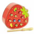 Catch Worms Game Wooden Magnetic Fun Educational Toys Kids