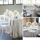 US Rectangle Sequin Glitter Tablecloth Sparkly Table Cloth Cover Wedding Party