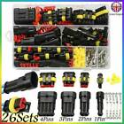 26kits 1/2/3/4 Pin Way Super Seal Car Waterproof Electrical Wire Connector Plug