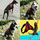 No Pull Reflecitve Soft/Vest Strap Harness With Handle Nylon Dog Harness L XL