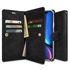 For iPhone 11 Pro XS MAX XR 8 Plus Case Double Card flip wallet Cover Snap Hold