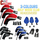 3pcs Golf Club Head Cover 1 3 5 Fairway Wood Driver Interchangeable Set