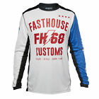 Fasthouse Worx 68 Mens Jersey Moto - White Blue Red All Sizes