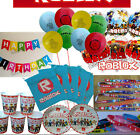 Roblox Birthday Party Sets  Balloons Tattoos Bags Plates Cups Napkins  More